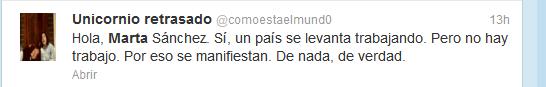Tuit Marta Sánchez