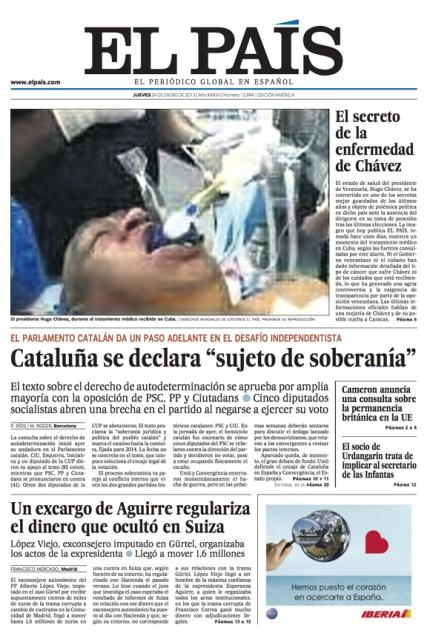 El País foto falsa Chávez portada